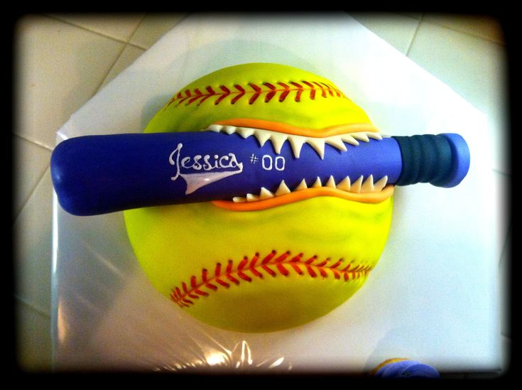 this is an awesome softball cake!!!