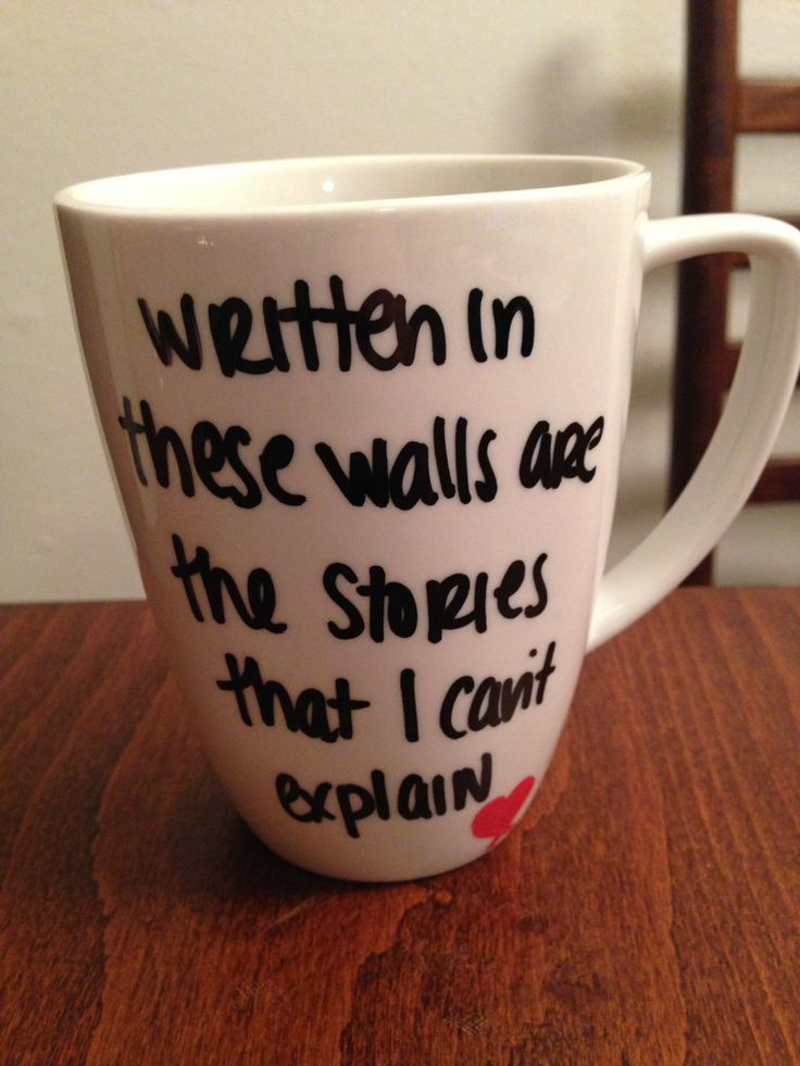 Story Of My Life lyric mug by TwentySevenThings on Etsy, $15.00