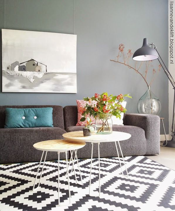 Lisanne van de Klift- modern monochrome interior with a little spice