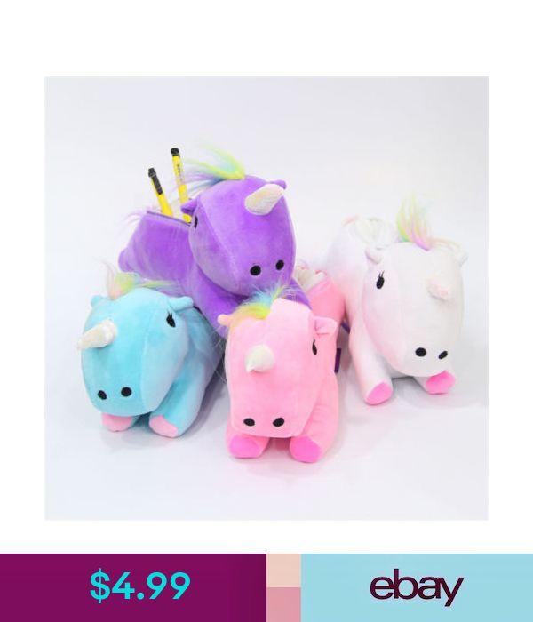 Makeup Bags & Cases Plush Winter Unicorn Cute Pencil Case Pen Bag Make Up Jewell…