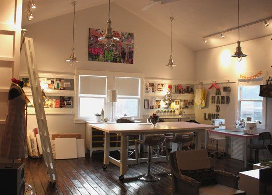 Ohhh I love this! My dream sewing studio!