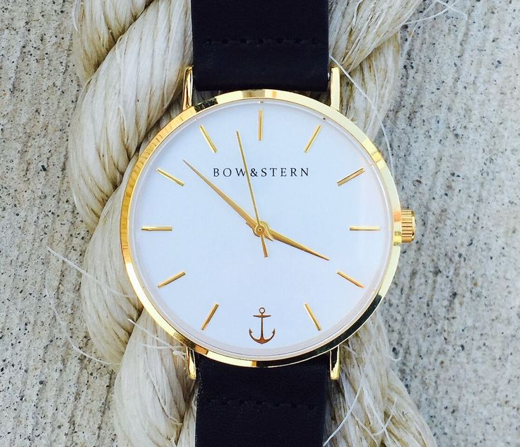 The Pacifico by Bow & Stern is a classic beauty that will be with you on your journey throughout time. This nautical inspired watch features a gold case and a white face with a gold anchor. Mix & match the bands to create your own look. @bowandsternofficial