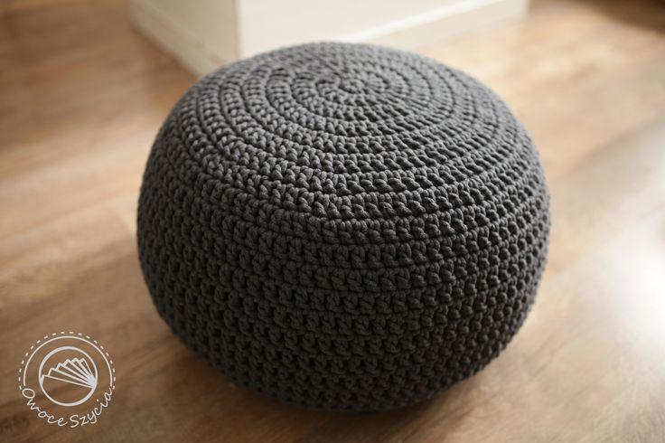 Pufa robiona na szydełku | Crochet pouf