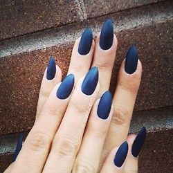 @missglenda13's navy blue natural nails after a gel removal done at @crownthequeens. Email haus.of.lacquer@gmail.com for an appointmen...
