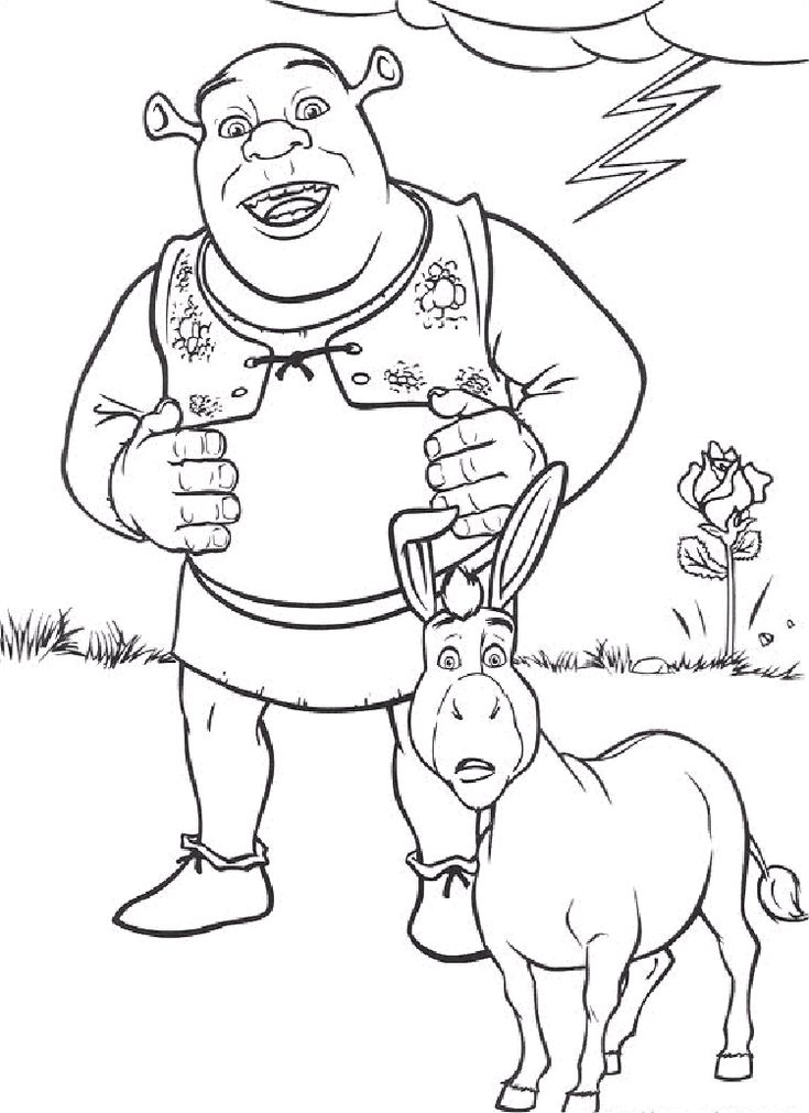 shrek coloring pages 3 - Gingerbread Man Color Page