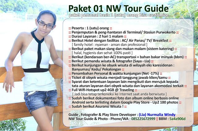 Nurmalia Windy: Paket Wisata Personal NW Tour Guide Service