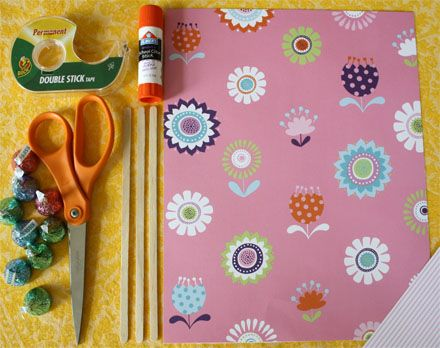 For kids - how to make a simple paper May Day  basket.