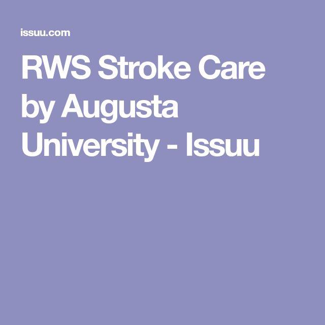 RWS Stroke Care by Augusta University - Issuu