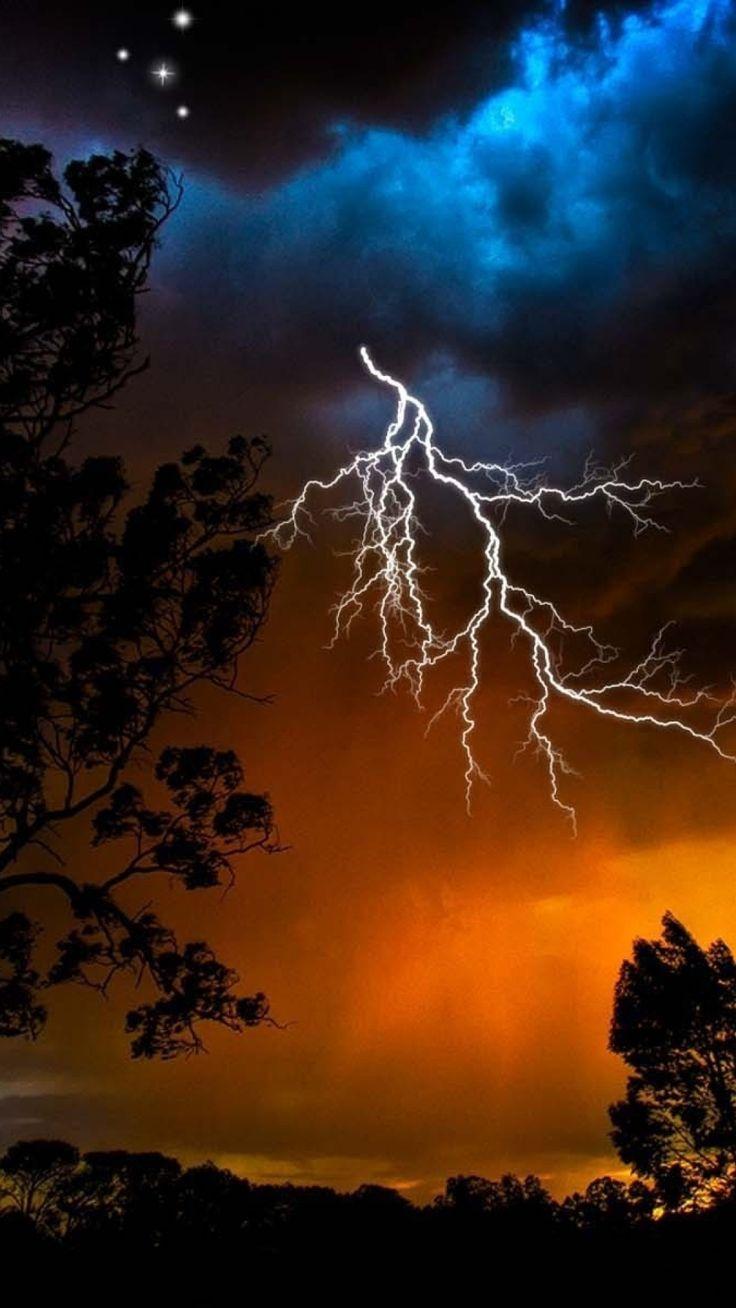 Lightning bolts run through the sky like veins in a body  http://www.worldweatheronline.com/