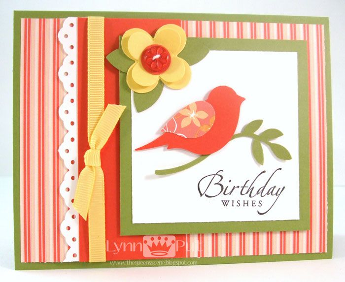 bird punch Stampin Up card