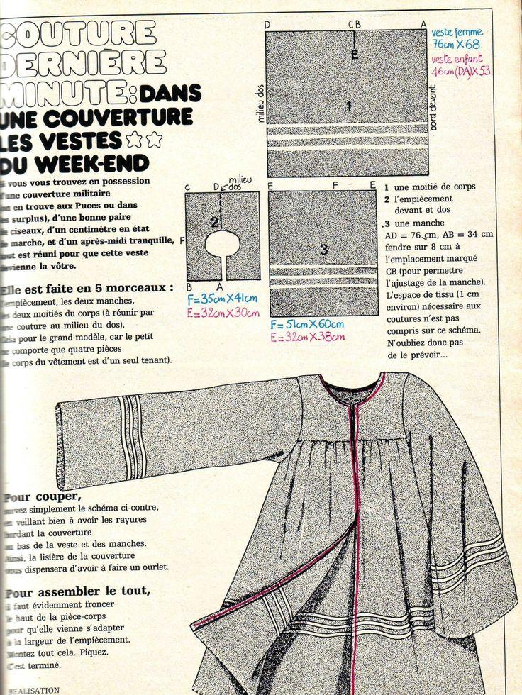 """Aujourd'hui je voulais vous parler du numero 2 de mars 1973, je ne crois pas avoir vu la couverture sur votre blog je vous l'envoie donc, à l'intérieur deux gros coups de coeur, réalisés en """"couture dernière minute"""": une veste du week end réalisée dans..."""