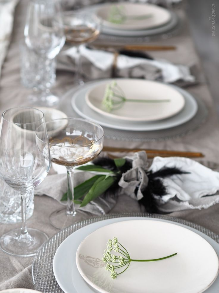 Summer table setting - www.byrust.no/blogg