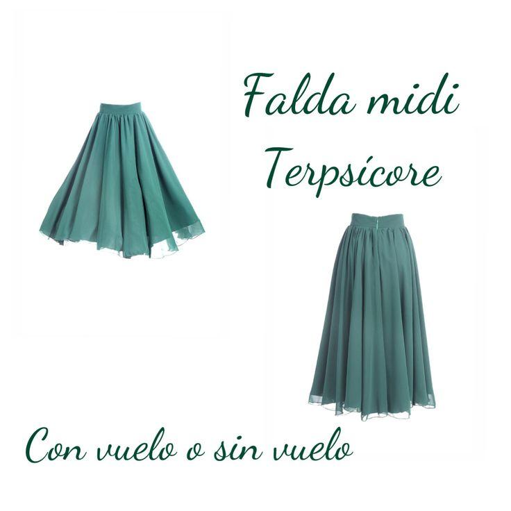 Falda Terpsícore verde de Miticca by Isabella Gobarodi