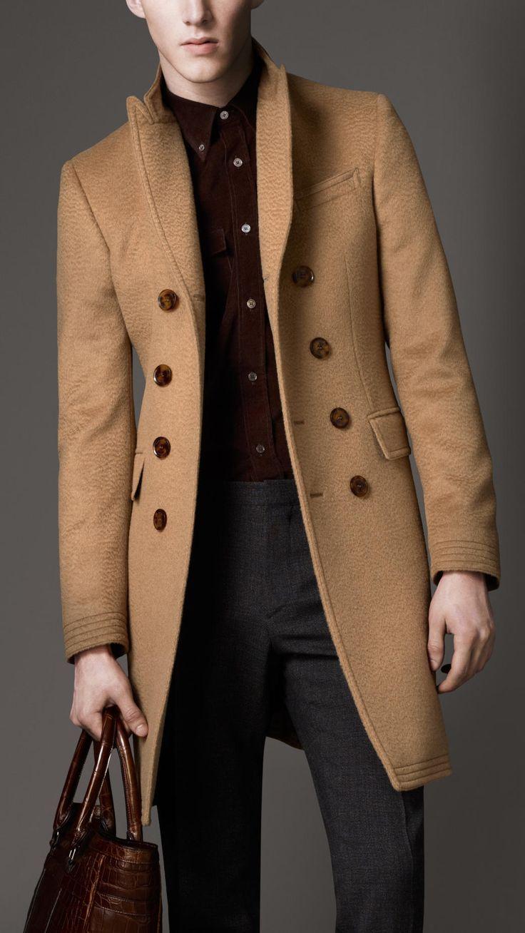 Burberry Camel Hair Top Coat in Beige for Men (camel) | Lyst