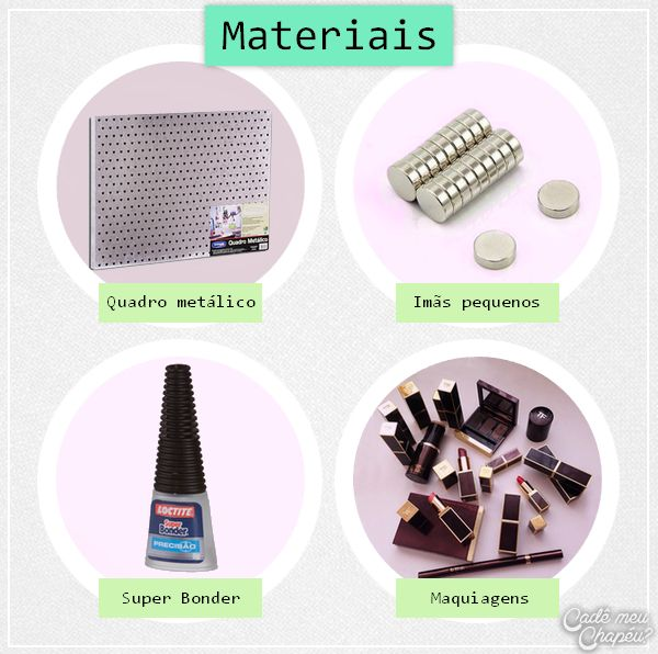 D.I.Y quadro magnético - Materiais