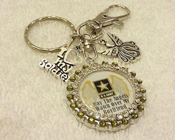 Army Boyfriend Keychain Purse Charm Army by PegsEmbellishedGifts
