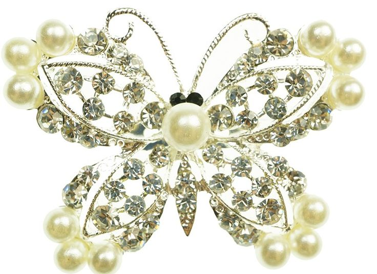 This delightful butterfly brooch has gorgeous decorations.