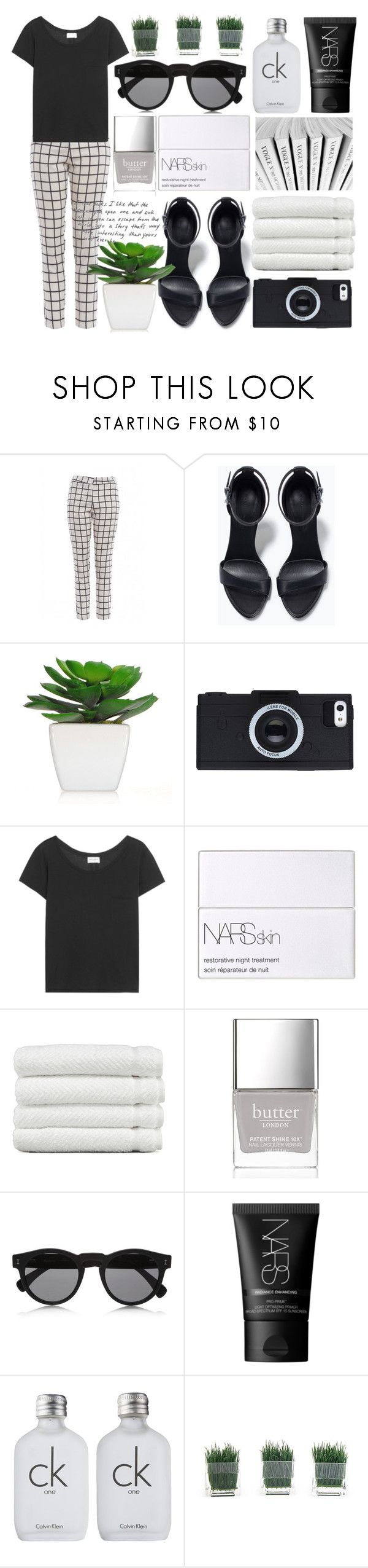 """""""Art Deco"""" by willneverdie ❤ liked on Polyvore featuring AX Paris, Zara, Yves Saint Laurent, NARS Cosmetics, Linum Home Textiles, Butter London, Karl Lagerfeld, Illesteva and Calvin Klein"""