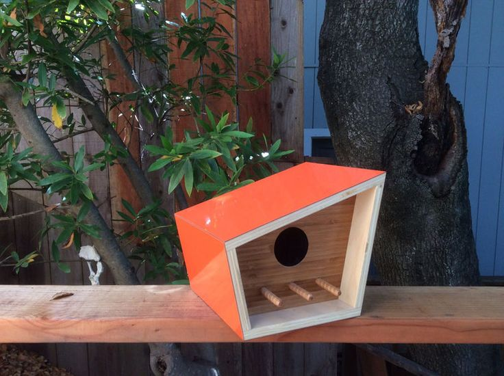 Mid-Century Contemporary Birdhouses : modern birdhouse