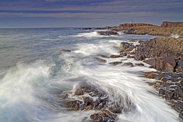 Brier Island Coast And Western Light Lighthouse Bay Of Fundy Nov Photograph
