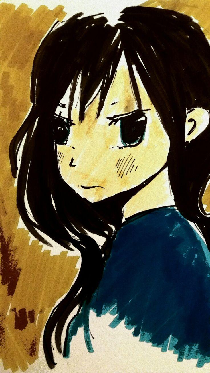 #Manga#painting#girl#brushpen#ecoline