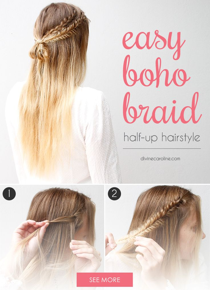 These Half Up Boho Braids Are The Definition Of Simple
