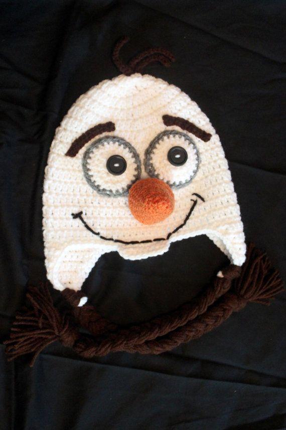 Crochet Olaf Hat  Size Toddler/Preschooler by KrazyKrochetin