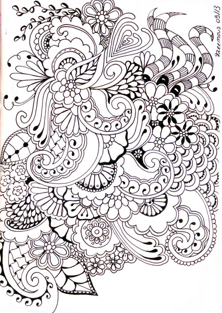 Zentangle journal ideas journaling doodling pinterest Zen coloring book for adults