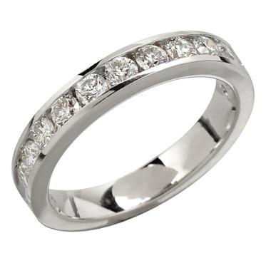 14K 1.00 av.ctw Diamond Band - WHITE GOLD    #ilovetoshop