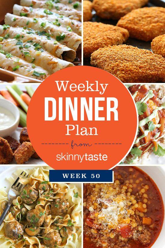 Skinnytaste Dinner Plan (Week 50)