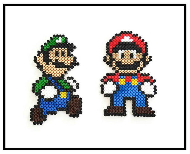mario und luigi marioundluigi supermario b gelperlen nintendo hama hamabeads basteln. Black Bedroom Furniture Sets. Home Design Ideas