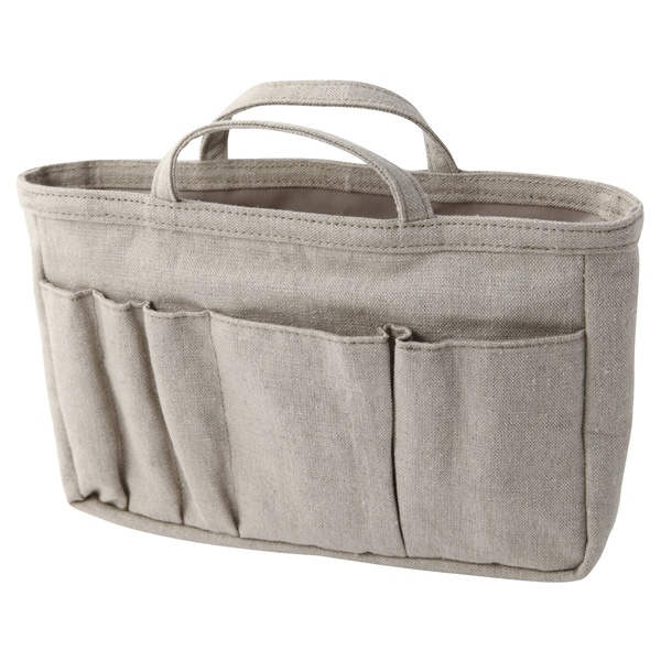 MUJI linen bag in a bag organizer