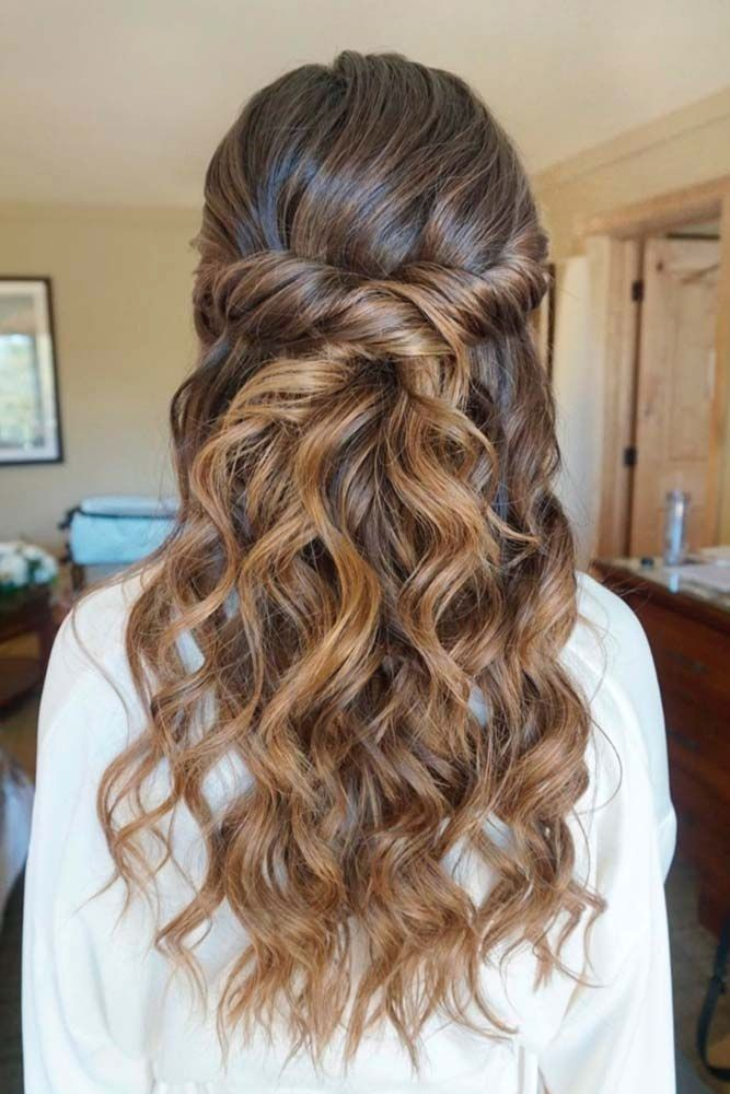 35 Cute Wedding Hairstyles That Will Match Your Inner Queen Guest Hair Hair Styles Wedding Hairstyles For Long Hair
