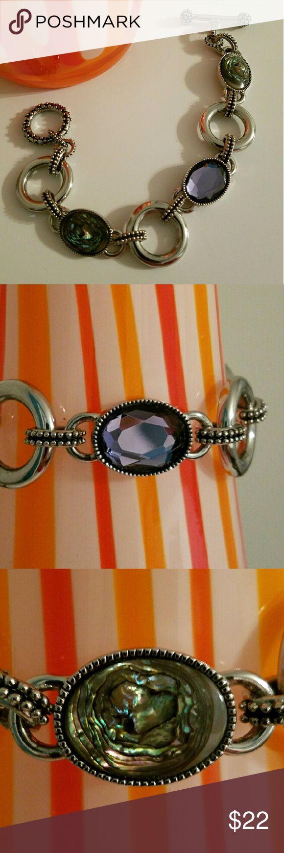 """Lia Sophia toggle bracelet Lia Sophia """"Epiphany"""". Gorgeous purple and abalone, toggle closure,  8"""". Lia Sophia Jewelry Bracelets"""