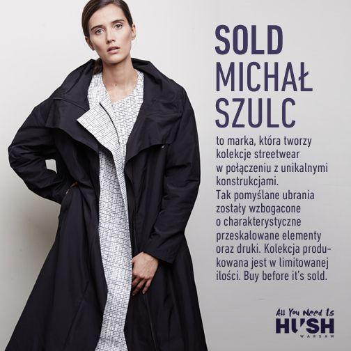 SOLD MICHAŁ SZULC www.hushwarsaw.com #hushwarsaw #hushwrsw #special #brands #polish #fashion #trade #fair #sold #michalszulc