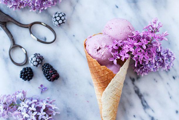 材料4つのブラックベリー・アイスクリームで、残暑を優雅に過ごします | roomie(ルーミー)