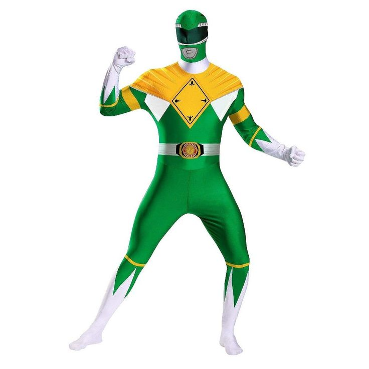 mighty morphin power rangers men 39 s green ranger costume x. Black Bedroom Furniture Sets. Home Design Ideas