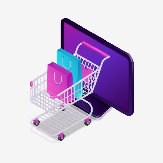Online Shopping Isometric Shopping Cart Icon Shop Vector Digital PNG and Vector with Transparent Background for Free Download in 2020 Cart icon Isometric Banner design