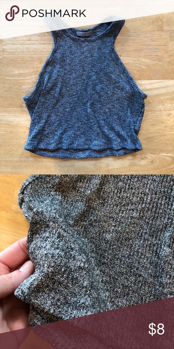 Sparkly crop top Gently used Charlotte Russe crop top size large (runs small) Charlotte Russe Tops Crop Tops