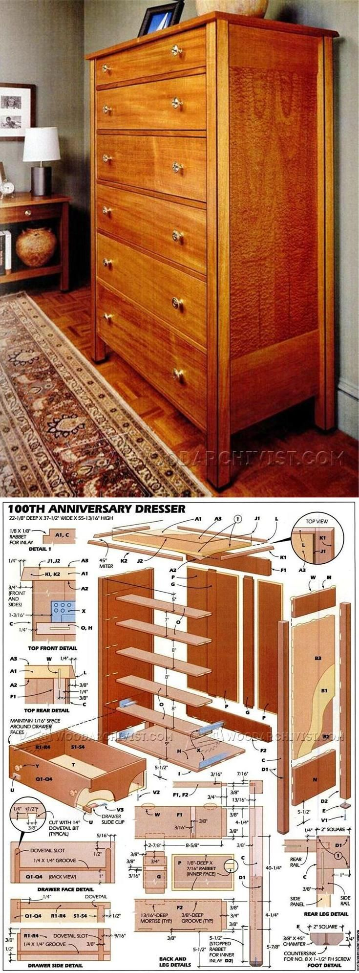 Dresser Plans - Furniture Plans and Projects | WoodArchivist.com