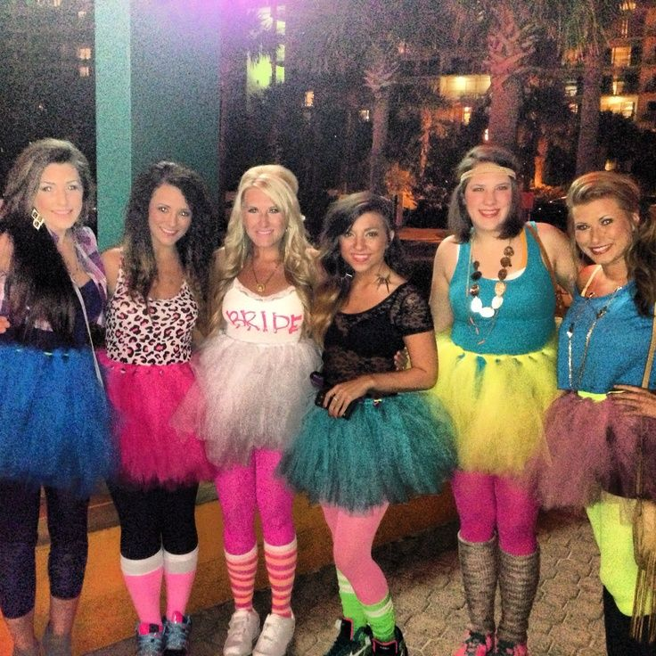 bachelorette party 80's themed outfits - Google Search