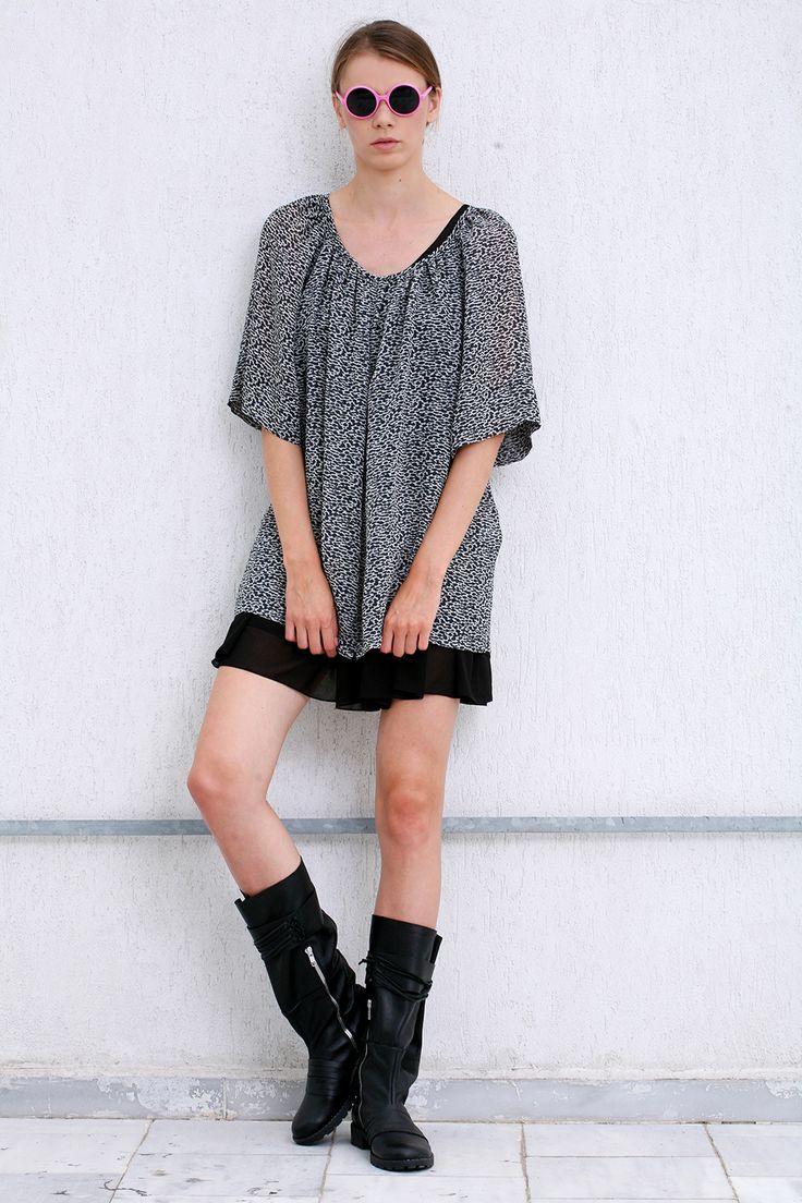 Short Pleated Dress