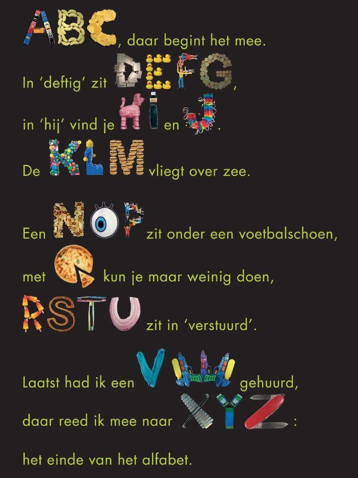 Leerlingen kunnen ook het alfabet oefenen op een leuke manier. Kinderen uit het derde leerjaar zouden zo'n tekst kunnen samenstellen.