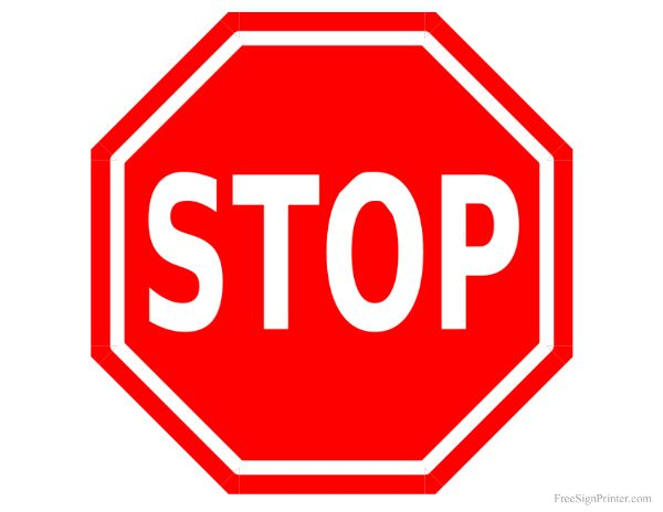 Printable Stop Sign- stick on foam cut out and glue on stick at the back