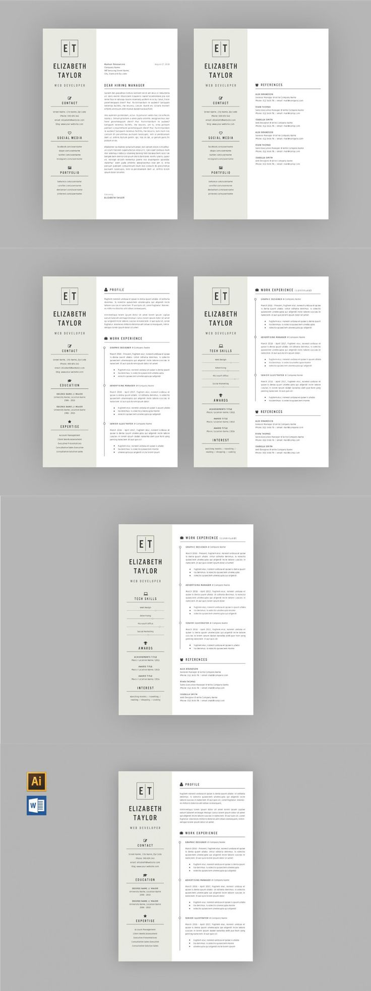 RESUME TEMPLATE V10 in 2020 Resume template, Modern
