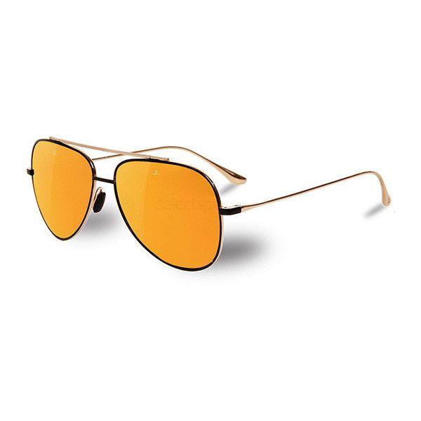 Vuarnet VL1611 0004 2124 Sunglasses ($365) ❤ liked on Polyvore featuring accessories, eyewear, sunglasses, black, aviator style glasses, aviator glasses, unisex glasses, vuarnet sunglasses and vuarnet