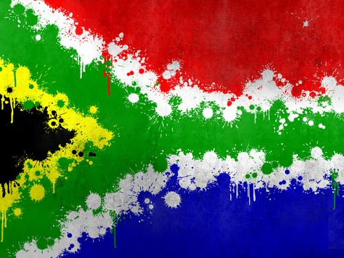 """South African Flag (paint splatter art)…"""