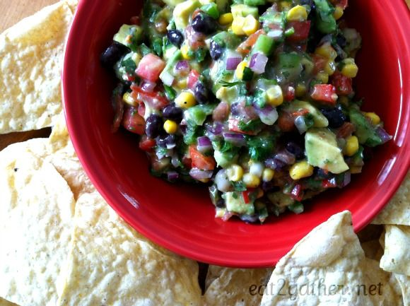 Cowboy Caviar ~ easy healthy dip.  Great for after school snacking!