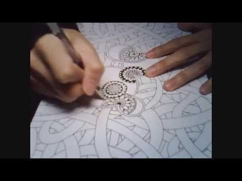 Doodle Botanical Zentangle PART 2 - YouTube