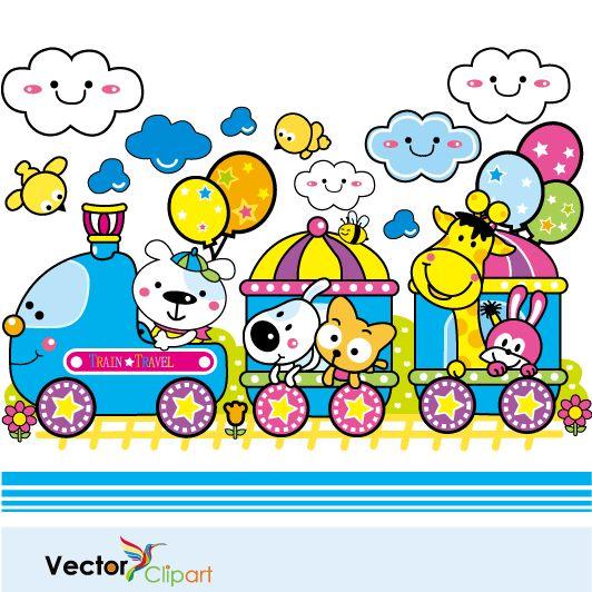 Trenecito infantil, imagen vectorial.